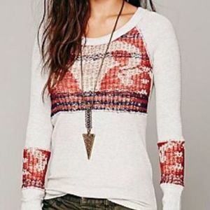 Free People Ram Skull thermal top XS - Boho Style
